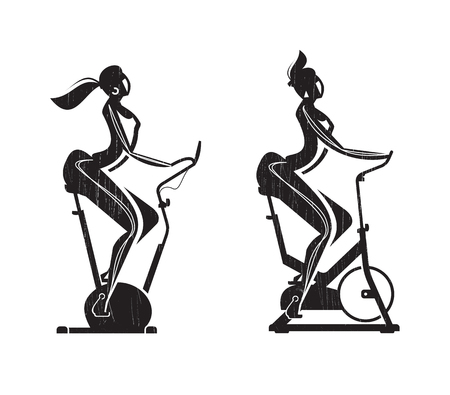 Gym  Exercise Bike  Vector format Vector