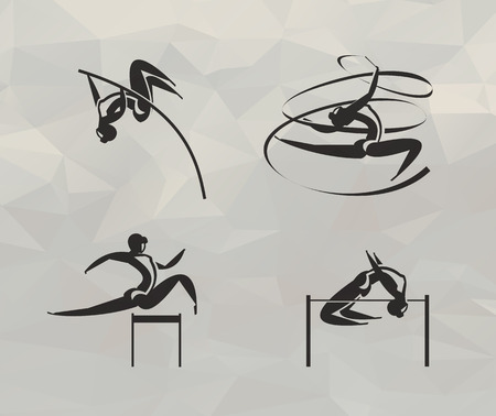 Athletics icons  Vector format Ilustrace