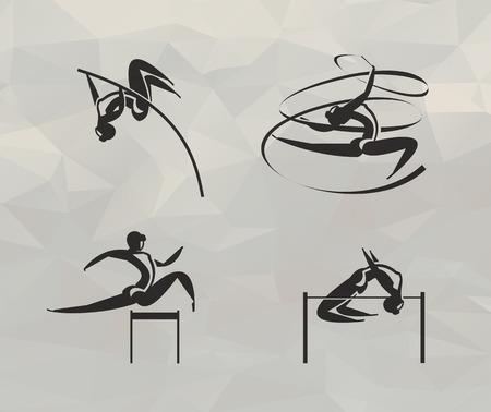 Atletiek iconen Vector-formaat Stock Illustratie