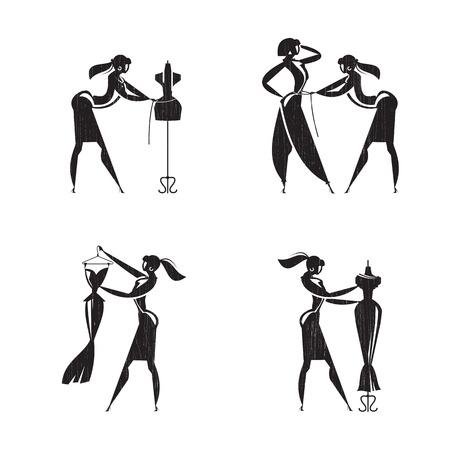 Tailoring pictogrammen Vector formaat
