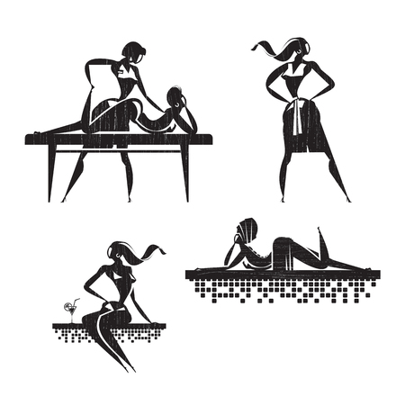 masseuse: Beauty salon  Vector format
