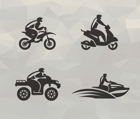 four wheel drive:  Transport icons  Vector format