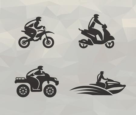 Transporte iconos en formato vectorial Ilustración de vector