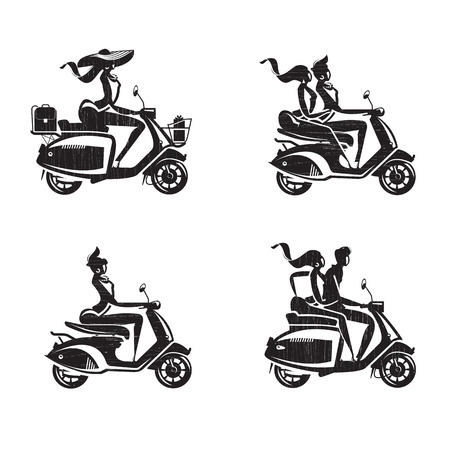 scooter: Scooter icons  Vector format Illustration