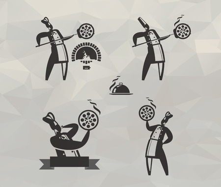 Pizza icons  Vector format Vector