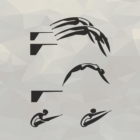 swimmer: Swimmer icons  Vector format Illustration
