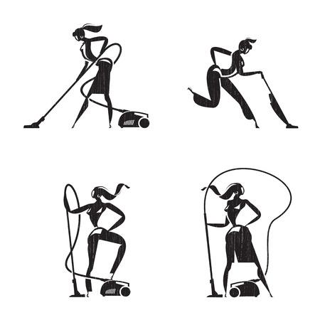 white matter: Vacuum cleaner icons