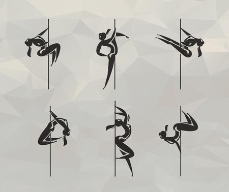 Striptease icons Vector