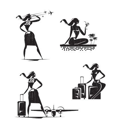 azafata de vuelo: Iconos azafata
