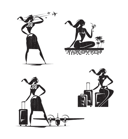 stewardess: Stewardess icons