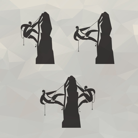 Climbers icons  Vector
