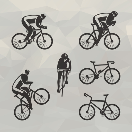 Cyclist icons Vector