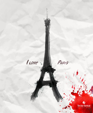 eiffel tower: I love Paris Illustration