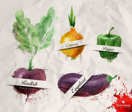 naturally: Vegetables. Vector format Illustration