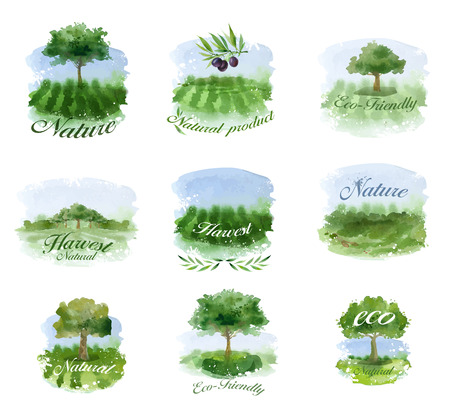 packaging icon: Nature. Vector format Illustration