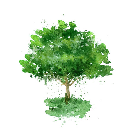 grass line: Tree.  Illustration