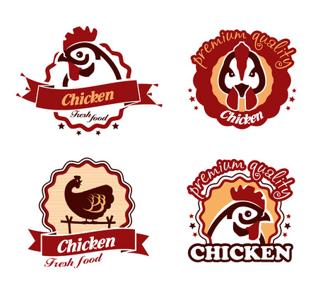 frozen meat: Chicken. Vector format