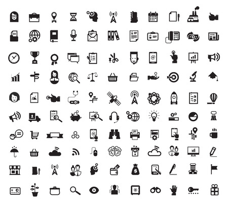 kijker: Pictogrammen. Vector-formaat Stock Illustratie