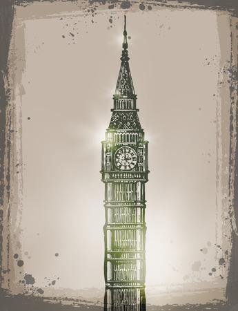 Big Ben. Vector format Vector