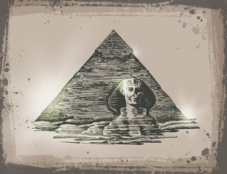 esfinge: Egipto. Vector format.jpg Vectores