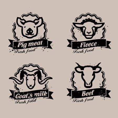 Farm animals. Vector format Vector