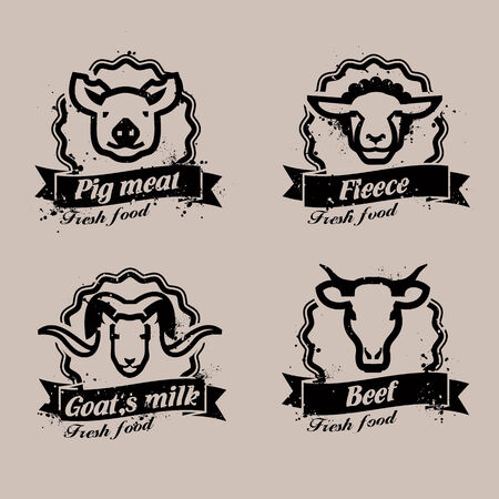 farm animals: Farm animals. Vector format Illustration