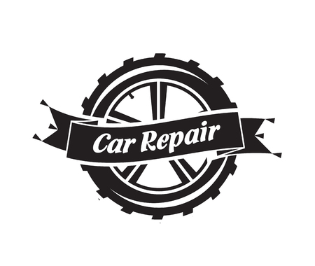 component parts: Auto Service. Vector format Illustration