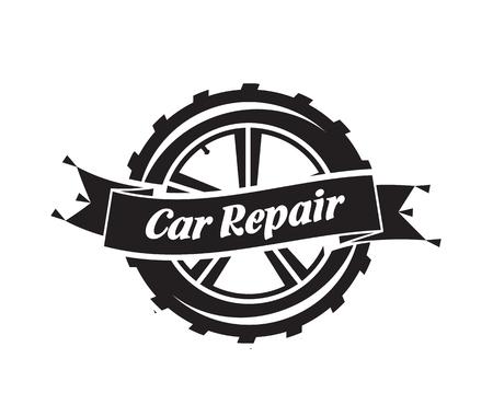 symbol sport: Auto Service. Vektor-Format