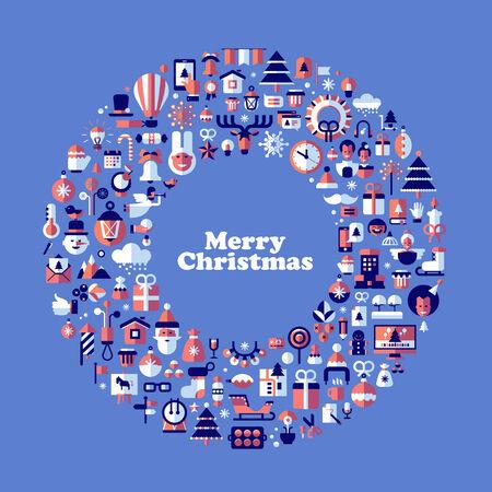 christmas vector: Merry Christmas. Vector format