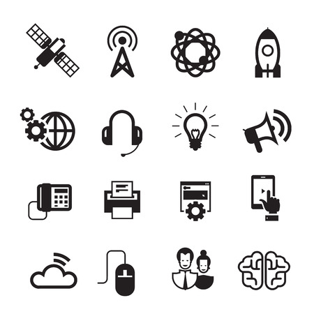 tel: Icons. Vector format
