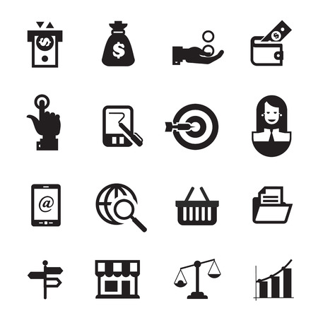 accumulation: Business icons. Vector format
