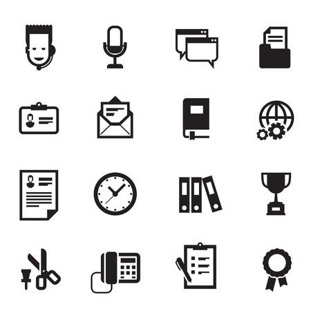 businesslike: Iconos de trabajo. El formato del vector