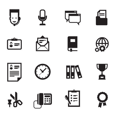 Work icons. Vector format