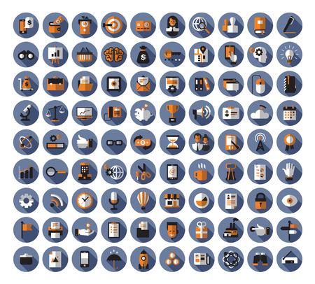 icono computadora: Iconos de negocio. Formato vectorial Vectores
