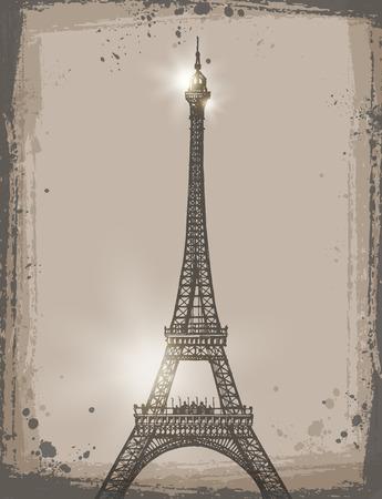 Eiffel Tower. Vector format Vector