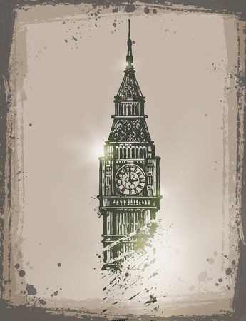 relic: Big Ben. Vector format Illustration