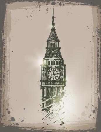 artifact: Big Ben. Vector format Illustration