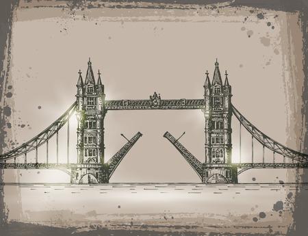 drawbridge: London. Vector format Illustration