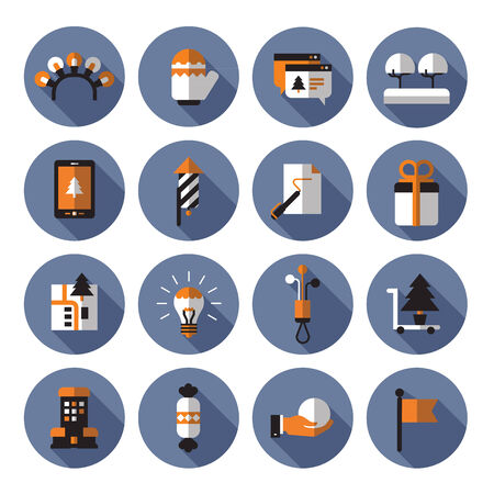 party poppers: Icons. Vector format