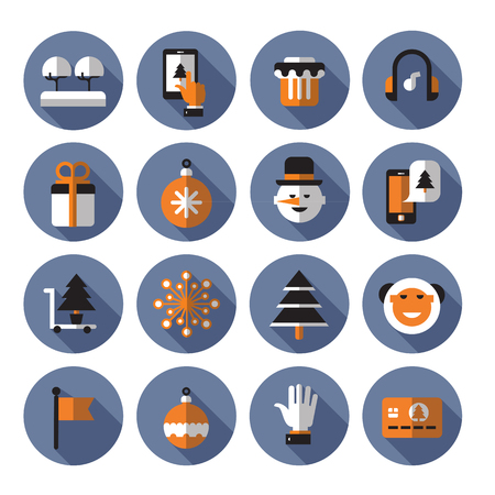 phone card: Christmas icons. Vector format