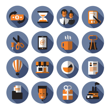 summaries: Business icons. Vector format