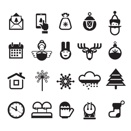 Christmas icons. Vector format Vector
