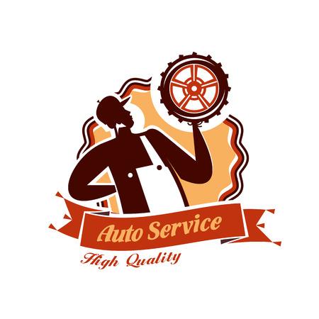 auto service: Auto service. Vector format