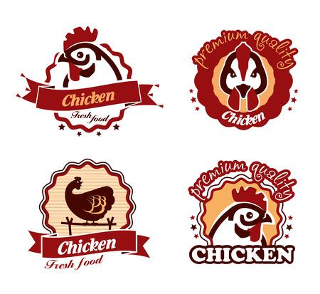 carne a la brasa: Pollo. El formato del vector Vectores