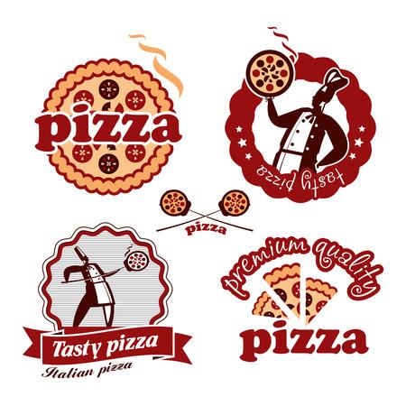 logotipos de restaurantes: Pizzeria. El formato del vector
