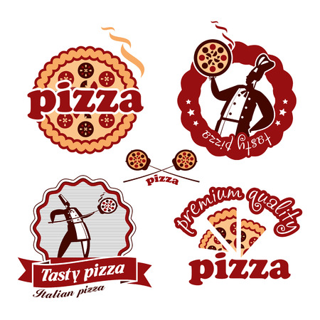 pizza crust: Pizzeria. Vector format Illustration