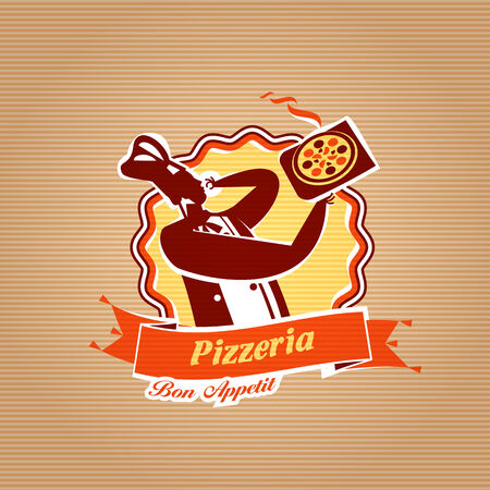 Pizza Delivery. Vector format Vector