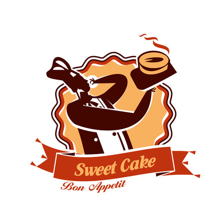 gateau: Sweet Cake. Vector format Illustration
