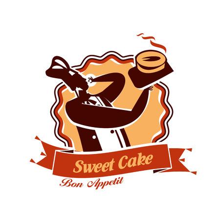 gateau: Torta dolce. Formato vettoriale Vettoriali