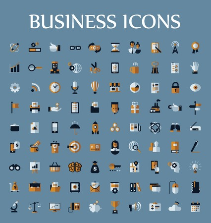 Set of web icons for business, communication and finance. Vector format